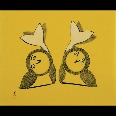 Flip Flop, Oqutaq Mikkigak, Cape Dorset, 2010 Print Collection