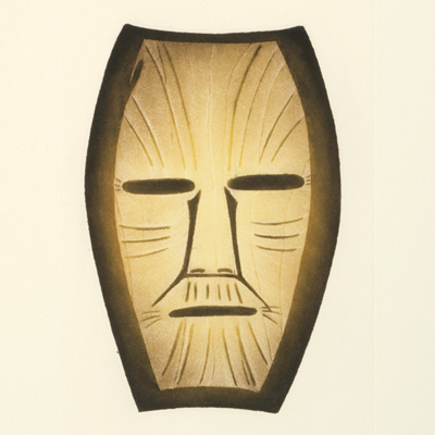 Mask, Pitsiulak Tim, Cape Dorset, 2011 Print Collection
