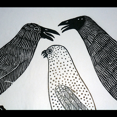 Two Ravens & an Owl